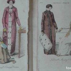 Libros antiguos: LIBRO DE LAMINAS VESTIDOS TRAJES 1838 ILUSTRADO MUY RARO. Lote 174691975