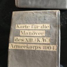 Libros antiguos: PRIMERA GUERRA MUNDIAL SIETE PLANOS DE GUERRA EJÉRCITO PRUSIANO . Lote 174878479