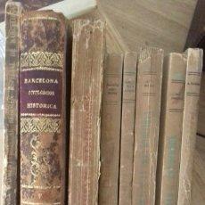 Libros antiguos: LOTE DE 8 LIBROS ANTIGUOS SOBRE BARCELONA. VER FOTOS.. Lote 174895069
