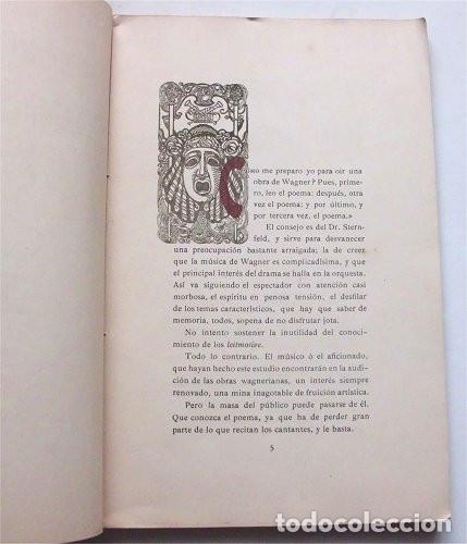Libros antiguos: Los Maestros Cantores de Nuremberg. F. Suárez Bravo. Barcelona. Tip. El Siglo XX. 1905 - Foto 3 - 174992505