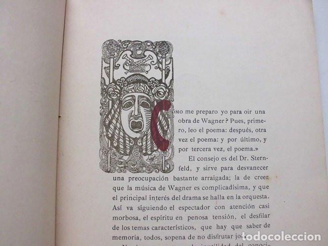 Libros antiguos: Los Maestros Cantores de Nuremberg. F. Suárez Bravo. Barcelona. Tip. El Siglo XX. 1905 - Foto 4 - 174992505