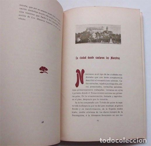 Libros antiguos: Los Maestros Cantores de Nuremberg. F. Suárez Bravo. Barcelona. Tip. El Siglo XX. 1905 - Foto 5 - 174992505