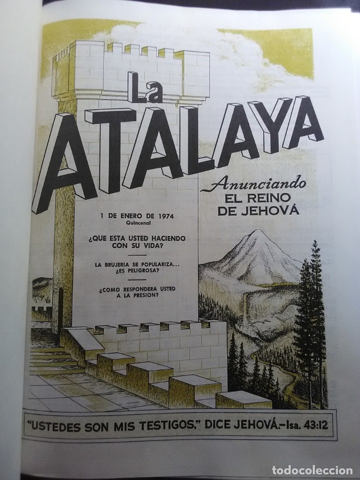 LA ATALAYA 1974 ANUARIO. (Libros Antiguos, Raros y Curiosos - Pensamiento - Otros)