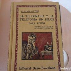 Libros antiguos: LA TELEGRAFIA Y TELEFONIA SIN HILOS. Lote 175025024
