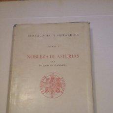 Livros antigos: NOBLEZA DE ASTURIAS. TOMO 1. Lote 175215657