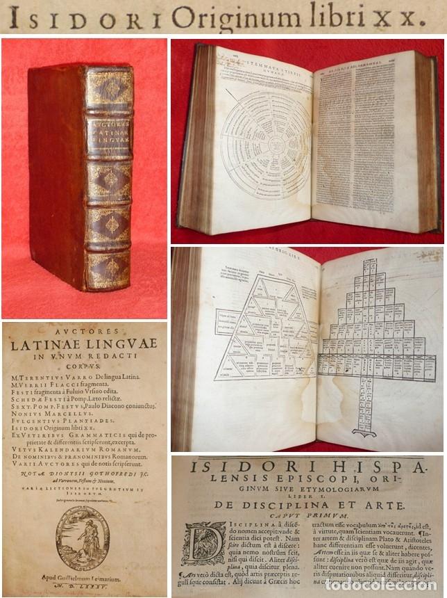 AÑO 1585 - 25 CM - 'LAS ETIMOLOGÍAS' - OBRA MAESTRA DE SAN ISIDORO DE SEVILLA - UNA JOYA - GRABADOS (Libros Antiguos, Raros y Curiosos - Ciencias, Manuales y Oficios - Otros)