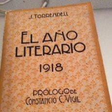 Libros antiguos: EL AÑO LITERARIO 1918. Lote 175336890