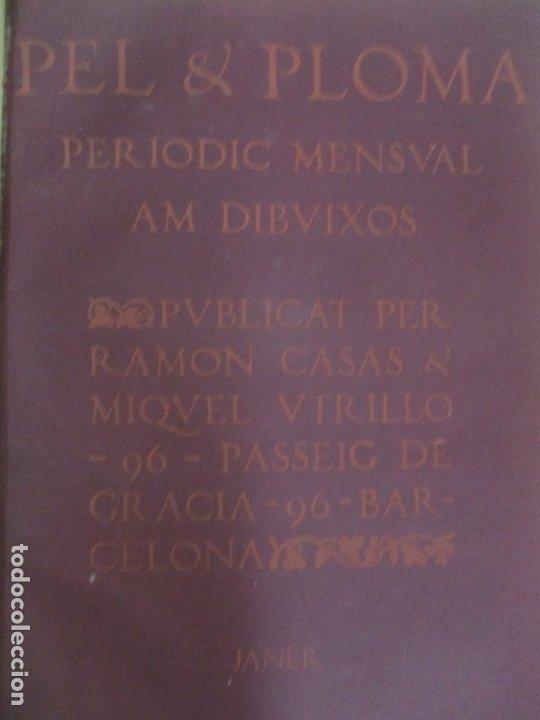 Libros antiguos: Pel & Ploma - Revista Mensual con Dibujos - Ramón Casas, M. Utrillo - Cuarto Año Completo - 1903 - Foto 3 - 175476369