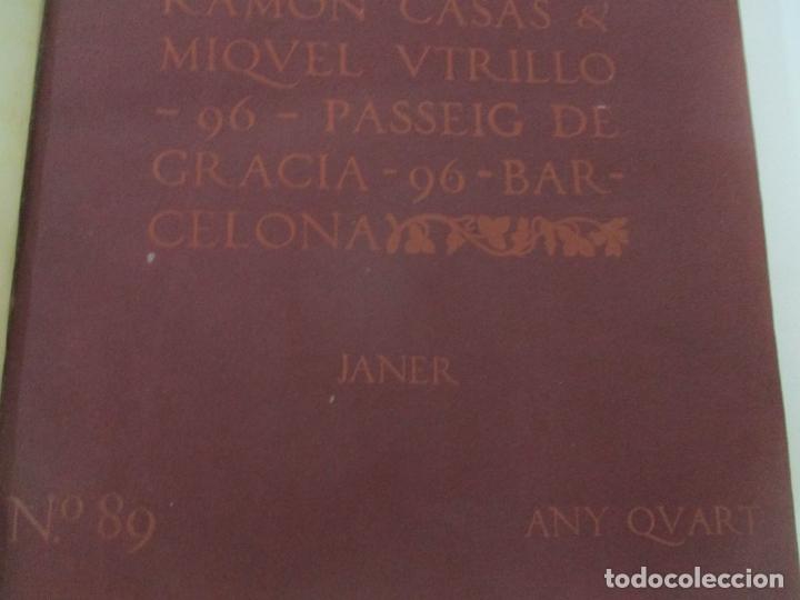 Libros antiguos: Pel & Ploma - Revista Mensual con Dibujos - Ramón Casas, M. Utrillo - Cuarto Año Completo - 1903 - Foto 4 - 175476369