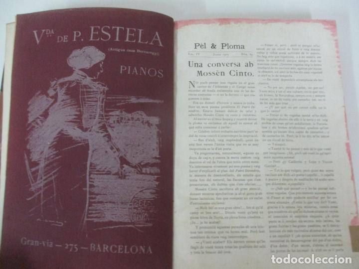Libros antiguos: Pel & Ploma - Revista Mensual con Dibujos - Ramón Casas, M. Utrillo - Cuarto Año Completo - 1903 - Foto 5 - 175476369