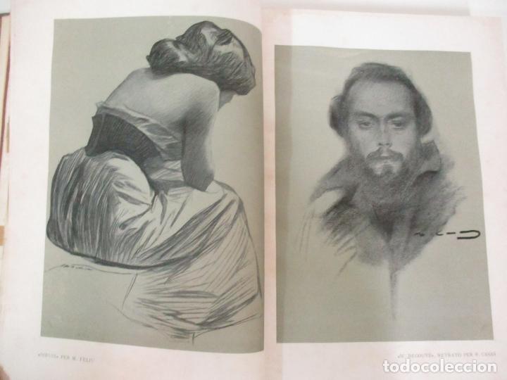 Libros antiguos: Pel & Ploma - Revista Mensual con Dibujos - Ramón Casas, M. Utrillo - Cuarto Año Completo - 1903 - Foto 11 - 175476369