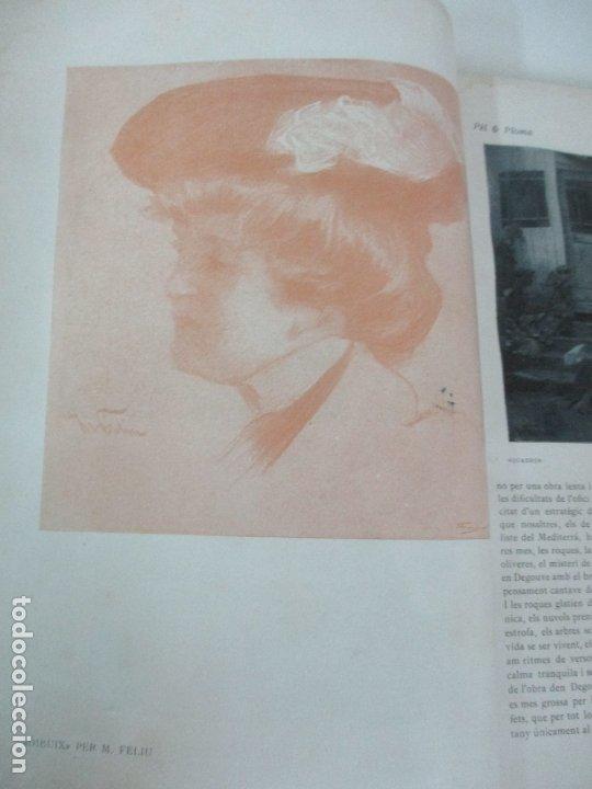 Libros antiguos: Pel & Ploma - Revista Mensual con Dibujos - Ramón Casas, M. Utrillo - Cuarto Año Completo - 1903 - Foto 12 - 175476369