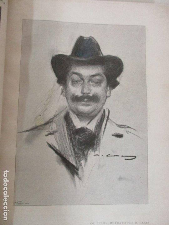 Libros antiguos: Pel & Ploma - Revista Mensual con Dibujos - Ramón Casas, M. Utrillo - Cuarto Año Completo - 1903 - Foto 13 - 175476369