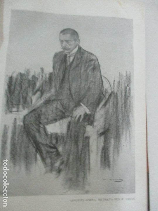 Libros antiguos: Pel & Ploma - Revista Mensual con Dibujos - Ramón Casas, M. Utrillo - Cuarto Año Completo - 1903 - Foto 14 - 175476369