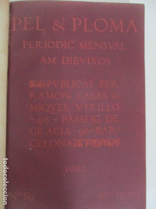 Libros antiguos: Pel & Ploma - Revista Mensual con Dibujos - Ramón Casas, M. Utrillo - Cuarto Año Completo - 1903 - Foto 23 - 175476369