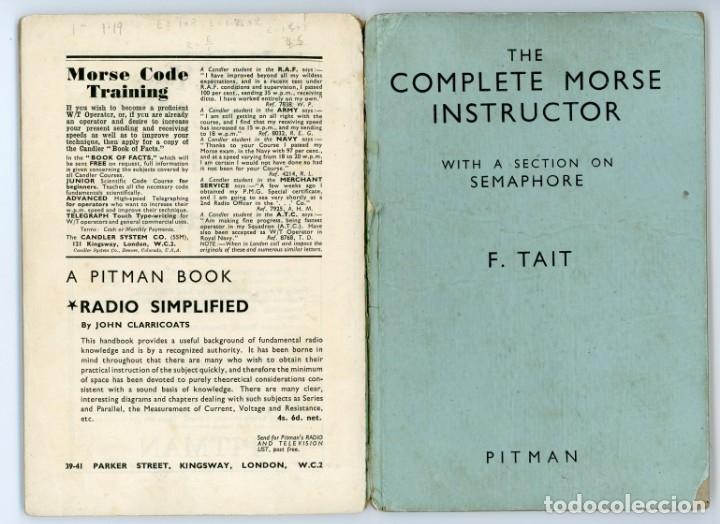 Libros antiguos: The Complete Morse Instructor. F Tait.1944. Manual de Morse. Telegrafía. Telegrafo - Foto 3 - 175479713