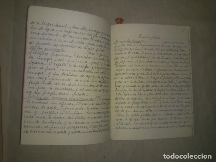 Libros antiguos: ANTIGUO LIBRO DE RECETAS COCINA MANUSCRITO DEL SIGLO XIX. MALLORCA - EXCEPCIONAL. - Foto 3 - 175487407