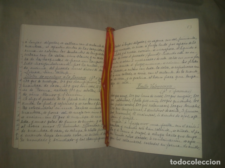 Libros antiguos: ANTIGUO LIBRO DE RECETAS COCINA MANUSCRITO DEL SIGLO XIX. MALLORCA - EXCEPCIONAL. - Foto 4 - 175487407