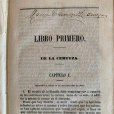 Libros antiguos: CURSO FUNDAMENTAL DE FILOSOFÍA. Lote 175517408