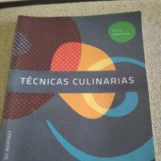 Libros antiguos: MANUAL COCINA CICLO FORMATIVO. TÉCNICAS CULINARIAS.. Lote 175527865