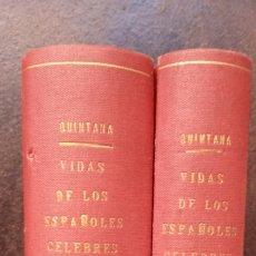 Libros antiguos: M.J. QUINTANA: VIDAS DE LOS ESPAÑOLES CÉLEBRES (5 TOMOS ENCUADERNOS EN 2 VOLÚMENES) (COMPLETA). Lote 175599943