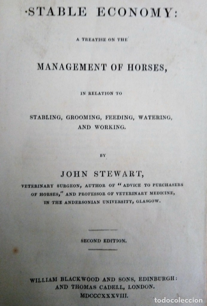 Libros antiguos: caballo libro guia Stable Economy A Treasury on the Management of Horses in Relationship to Stabling - Foto 3 - 175603174
