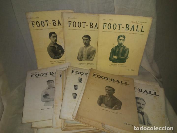 REVISTA FOOT-BALL - AÑOS 1915-1917 - ANTIGUOS EQUIPOS ESPAÑOLES.EXCEPCIONAL LOTE. (Libros Antiguos, Raros y Curiosos - Historia - Otros)