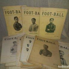 Libros antiguos: REVISTA FOOT-BALL - AÑOS 1915-1917 - ANTIGUOS EQUIPOS ESPAÑOLES.EXCEPCIONAL LOTE.. Lote 175654973