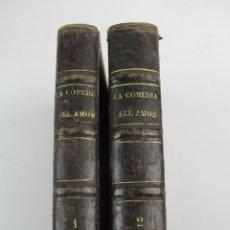 Libri antichi: L-474. LA COMEDIA DEL AMOR, ENRIQUE PEREZ ESCRICH. NOVELA DE COSTUMBRES. 1875. 2 TOMOS.. Lote 175758928
