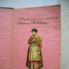 Libros antiguos: LIBRO DE COCINA POPULAR .LIBRO MANUSCRITO, RECETARIO.FINALES DEL SIGLO XIX.. Lote 175763669
