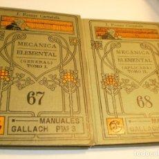 Libros antiguos: 2 TOMOS J. FORNER MECÁNICA ELEMENTAL ESPASA CALPE NO PONE AÑO EDICIÓN (SEMINUEVOS, LEER). Lote 175834794