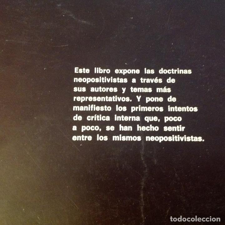 Libros antiguos: Neopositivismo, análisis del lenguaje y cibernética, de G. Fano, 1972, 166 paginas, en rustica. - Foto 2 - 175856668
