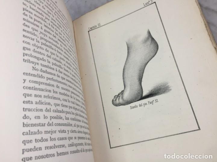 Libros antiguos: Guía teórico practica para fabricante de calzado y hormas Madrid 1878 Láminas desplegables patron - Foto 7 - 175868287