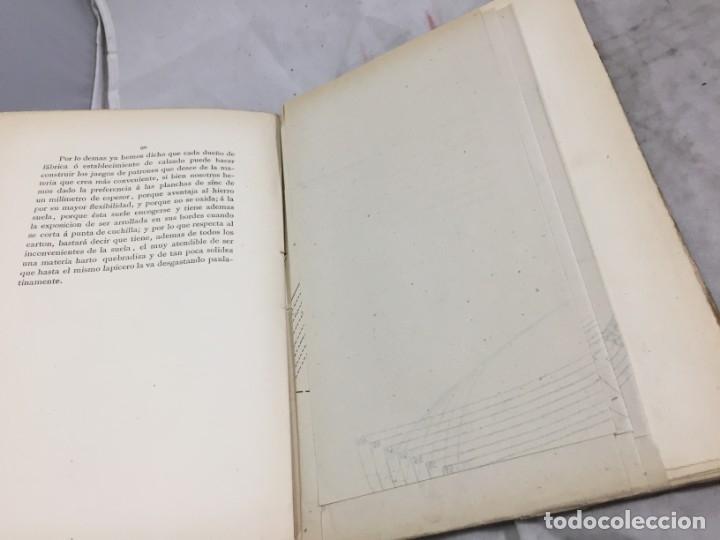 Libros antiguos: Guía teórico practica para fabricante de calzado y hormas Madrid 1878 Láminas desplegables patron - Foto 12 - 175868287