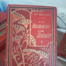Libri antichi: RECHERCHE DUNE SOURCE. MESUREUR. 1900. Lote 175964778