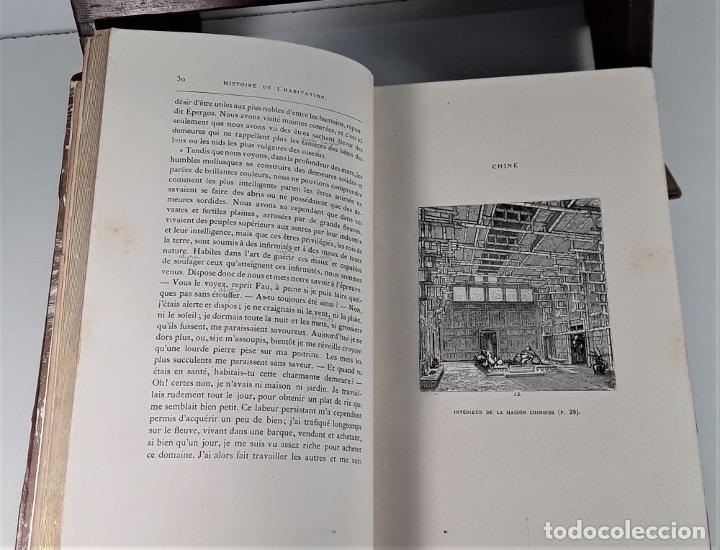Libros antiguos: HISTOIRE DE LHABITATION HUMAINE. V. DUC. BIBLI. J. HETZEL Y CIE. PARÍS. S/F. - Foto 5 - 175981614