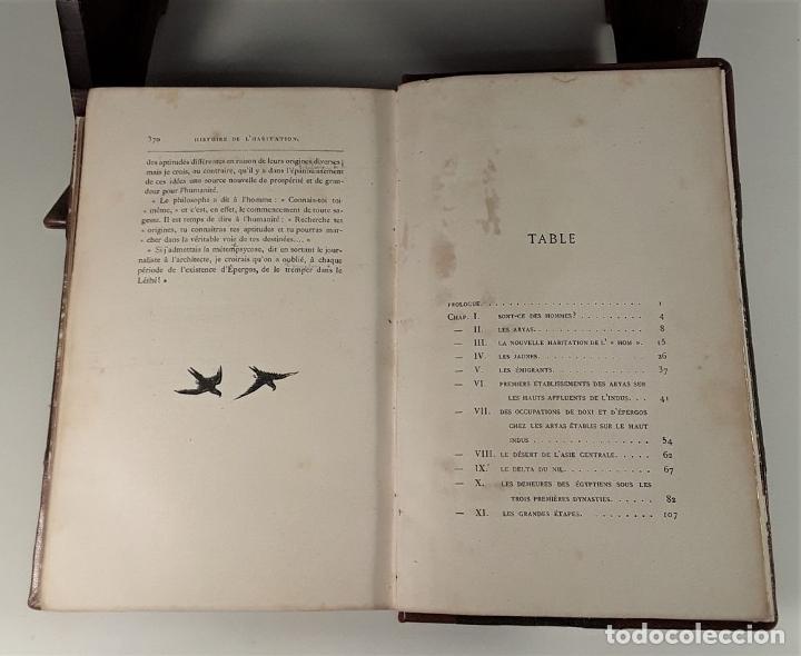 Libros antiguos: HISTOIRE DE LHABITATION HUMAINE. V. DUC. BIBLI. J. HETZEL Y CIE. PARÍS. S/F. - Foto 7 - 175981614