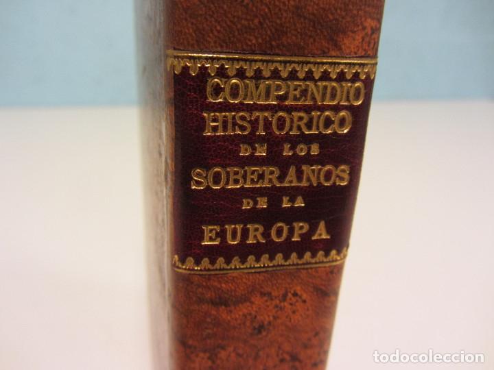COMPENDIO HISTÓRICO, GEOGRÁFICO Y GENEALÓGICO DE LOS SOBERANOS DE LA EUROPA... 1764. (Libros Antiguos, Raros y Curiosos - Historia - Otros)