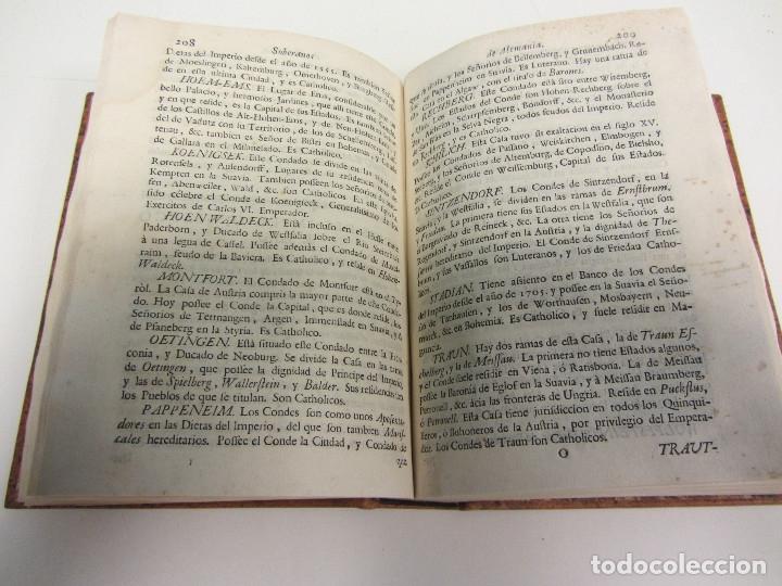 Libros antiguos: COMPENDIO HISTÓRICO, GEOGRÁFICO Y GENEALÓGICO DE LOS SOBERANOS DE LA EUROPA... 1764. - Foto 6 - 175995042