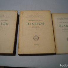 Libros antiguos: DIARIOS. GASPAR MELCHOR DE JOVELLANOS.. Lote 176077113