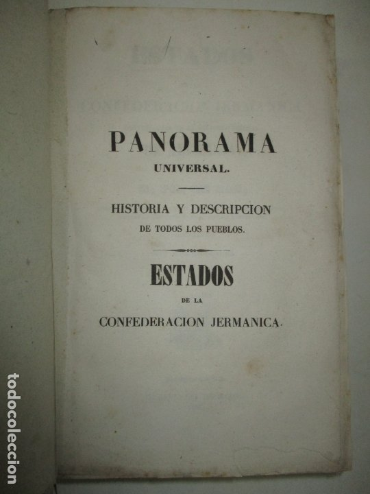 Libros antiguos: ESTADOS DE LA CONFEDERACIÓN JERMÁNICA, CONTINUACIÓN DE LA HISTORIA JENERAL DE ALEMANIA. - LE BAS, Ph - Foto 3 - 123207243