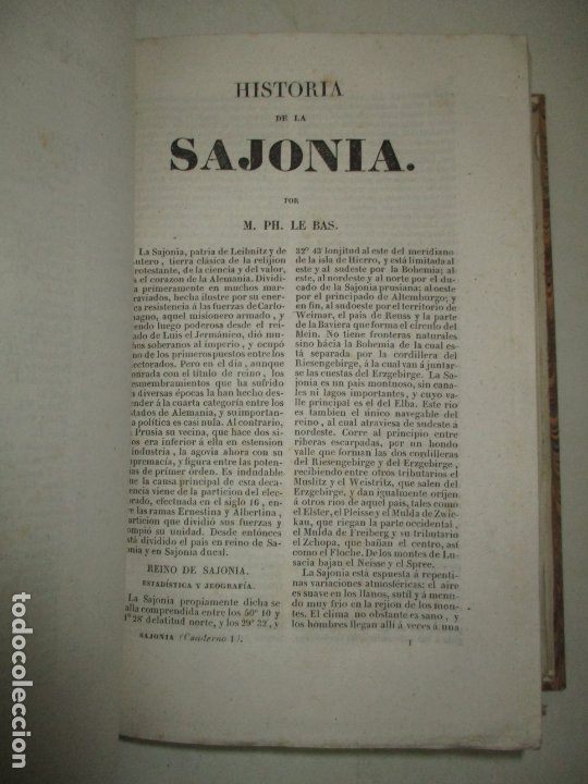 Libros antiguos: ESTADOS DE LA CONFEDERACIÓN JERMÁNICA, CONTINUACIÓN DE LA HISTORIA JENERAL DE ALEMANIA. - LE BAS, Ph - Foto 12 - 123207243