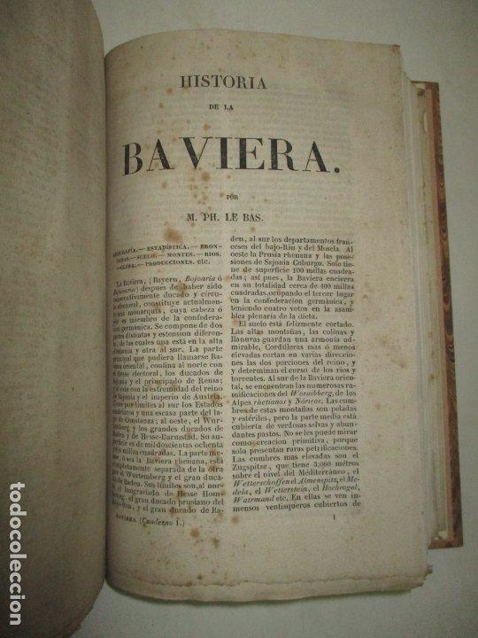 Libros antiguos: ESTADOS DE LA CONFEDERACIÓN JERMÁNICA, CONTINUACIÓN DE LA HISTORIA JENERAL DE ALEMANIA. - LE BAS, Ph - Foto 15 - 123207243