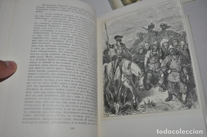 Libros antiguos: Miguel de Cervantes .Don Quijote de la Mancha .Edicion sovietica 1970 a .URSS. dos tomos - Foto 10 - 176124468