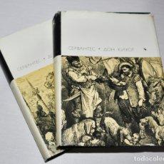 Libros antiguos: MIGUEL DE CERVANTES .DON QUIJOTE DE LA MANCHA .EDICION SOVIETICA 1970 A .URSS. DOS TOMOS. Lote 176124468