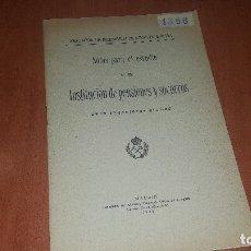 Libros antiguos: NOTAS PARA ESTUDIO DE UNA INST. DE PENSIONES Y SOCORROS, ASOC. INGENIEROS DE MINAS DE ESPAÑA, 1924. Lote 176407894