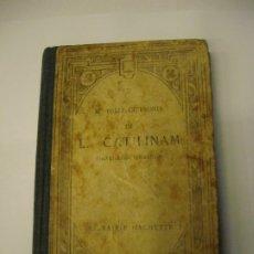 Libros antiguos: IN L. CATILINAM M. TULLI CICERONIS ORATIONES QUATOR MARCO TULIO CICERON EN FRANCÉS LIBRERÍA HACHETTE. Lote 176408075