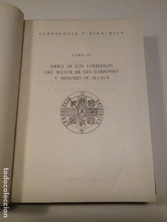 Libros antiguos: Indice de los Colegiales. Tomo III - Foto 4 - 176445780