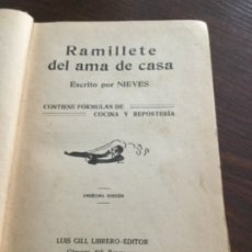 Libros antiguos: LIBRO COCINA. Lote 176501512