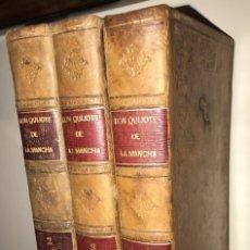 Libros antiguos: 1819 DON QUIJOTE DE LA MANCHA. REAL ACADEMIA ESPAÑOLA. IMPRENTA REAL. GRABADOS DE RIVELLES. 3 TOMOS. Lote 176510073